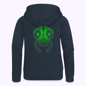 Fractal Dragon 2 Color Women;s Hooded Jacket - Vrouwenjack met capuchon Premium
