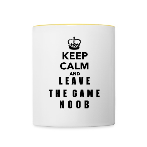Keep Calm and Leave the Game Noob - Taza en dos colores