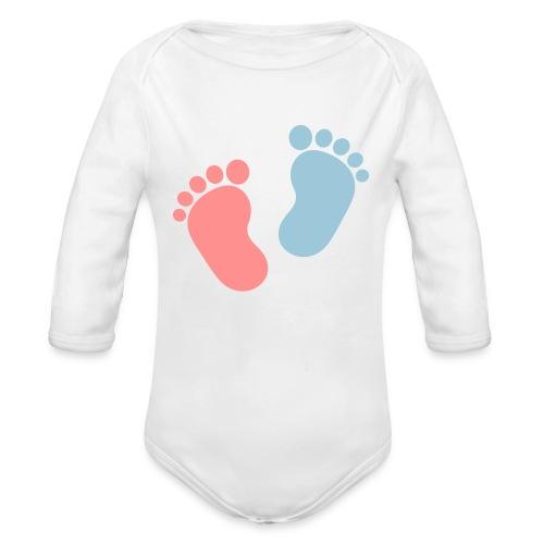 Body orgánico de manga larga para bebé