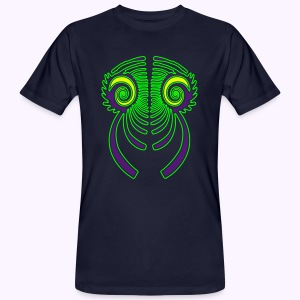 Fractal Dragon 3 color Men's Organic Shirt - Mannen Bio-T-shirt