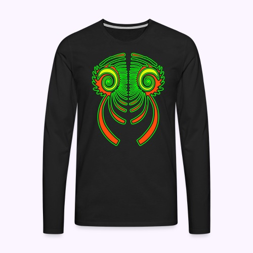 Fractal Dragon 3 color Men's Long Sleeve - Men's Premium Longsleeve Shirt