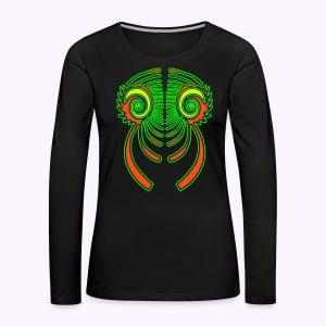 Fractal Dragon 3 color Women's Long Sleeve - Women's Premium Longsleeve Shirt