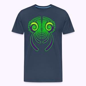 Fractal Dragon 3 color Men Premium S-5XL - Mannen Premium T-shirt