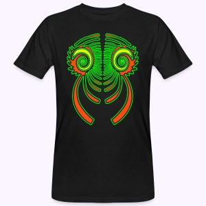 Fractal Dragon 3 color Men's Organic Shirt - Mannen Bio-T-shirt
