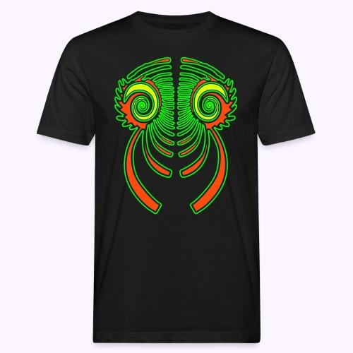 Fractal Dragon 3 color Men's Organic Shirt - Men's Organic T-Shirt