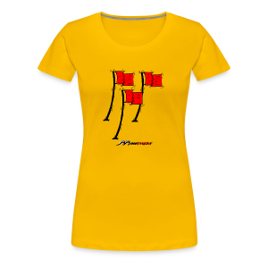 Red-Flag Lady's - Frauen Premium T-Shirt