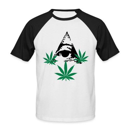 Kortærmet herre-baseballshirt - T-shirt