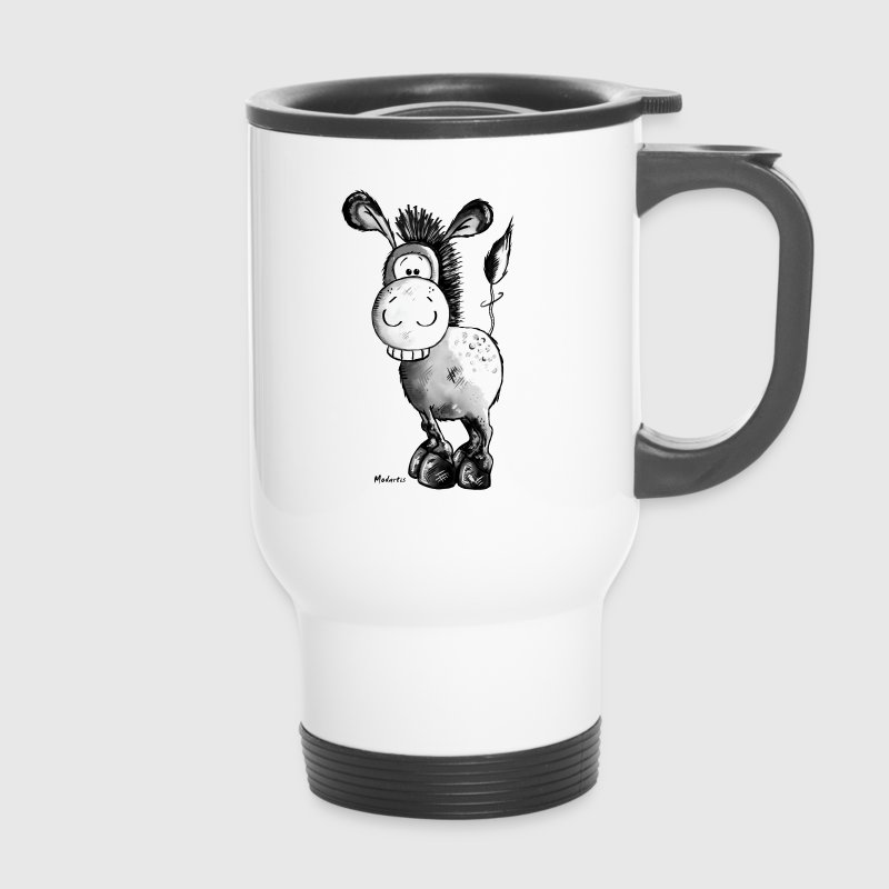 Funny Donkey - Horse - Animal Bottles & Mugs - Travel Mug