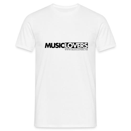 Logo-Musiclovers-schwarz3 - Männer T-Shirt