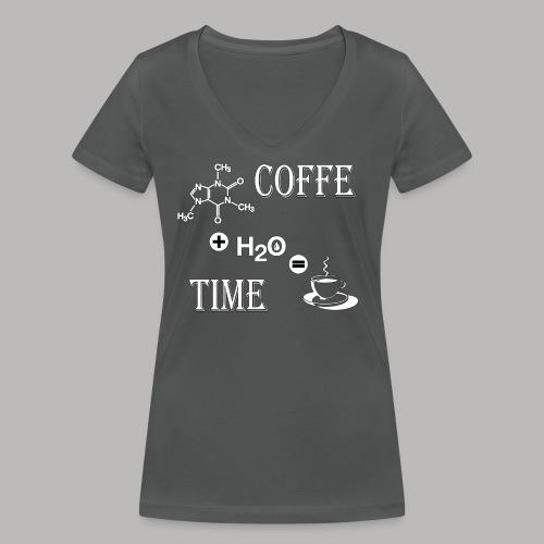 Coffe Time - T-shirt ecologica da donna con scollo a V di Stanley & Stella