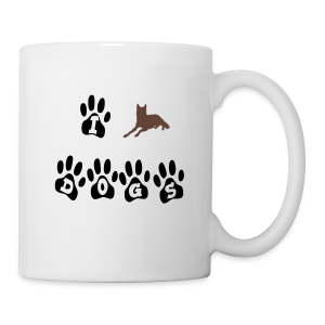 I love dogs - Tasse
