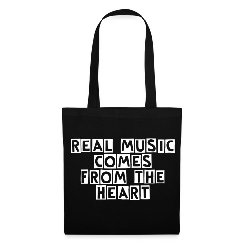 REAL MUSIC COMES FROM THE HEART - Tote Bag