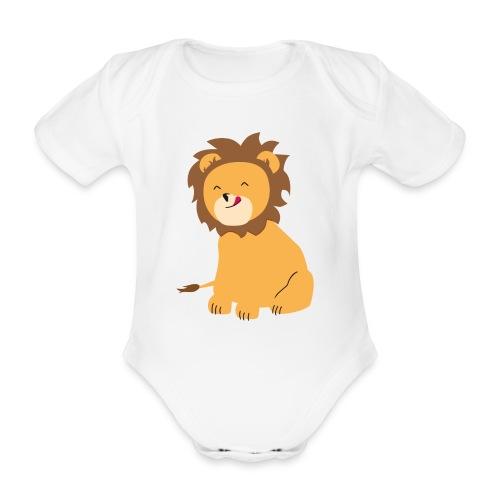 Baby-Body Löwe - Baby Bio-Kurzarm-Body