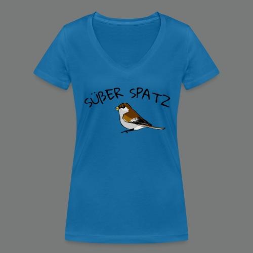 Süßer Spatz - Frauen Bio-T-Shirt mit V-Ausschnitt von Stanley & Stella