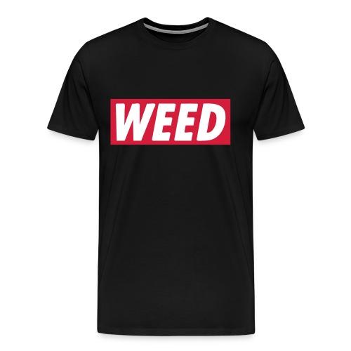 WEED Tee BLACK - Herre premium T-shirt
