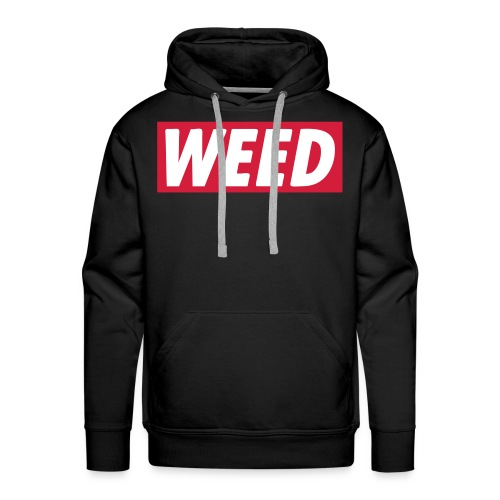 WEED HOODIE BLACK - Herre Premium hættetrøje