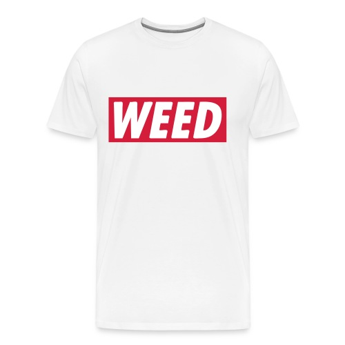 WEED Tee WHITE - Herre premium T-shirt