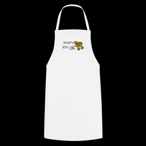 Papy en or (pièces or métallique) - Tablier de cuisine