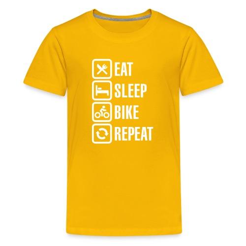 Majica Eat Sleep Bike Repeat - Teenage Premium T-Shirt