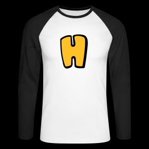 Alphabet H - Men's Long Sleeve Baseball T-Shirt