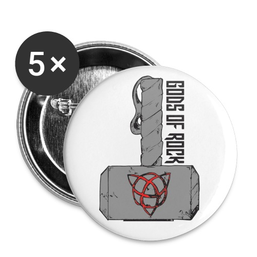 Hammer Badges - Buttons small 1''/25 mm (5-pack)
