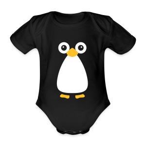 Cute Vector Penguin Baby One-Piece - Organic Short-sleeved Baby Bodysuit