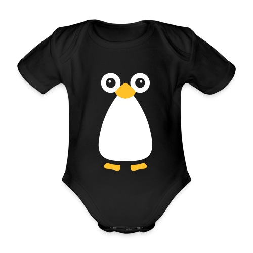 Cute Vector Penguin Baby One-Piece - Organic Short-sleeved Baby Bodysuit