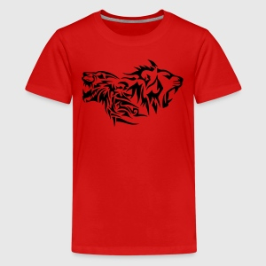 lion tribal tatouage dessin 14029 Tee shirts - T-shirt Premium Ado