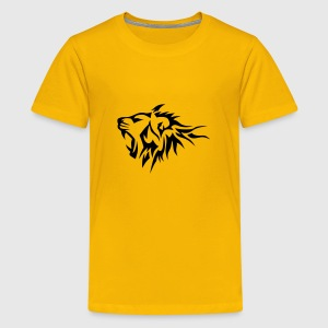 lion tribal tatouage dessin 14026 Tee shirts - T-shirt Premium Ado