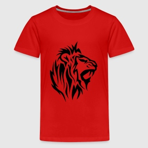 lion tribal tatouage dessin 14025 Tee shirts - T-shirt Premium Ado