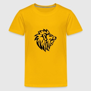 lion tribal tatouage dessin 1402 Tee shirts - T-shirt Premium Ado