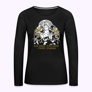 White Tara White-Gold - Women's Long Sleeve - Women's Premium Longsleeve Shirt