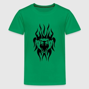 leopard tatouage tribal animal sauvage Tee shirts - T-shirt Premium Ado