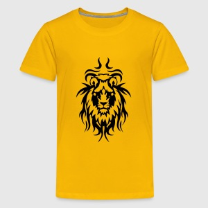lion tatouage tribal animal sauvage Tee shirts - T-shirt Premium Ado