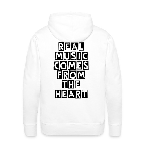 REAL MUSIC COMES FROM THE HEART - Men's Premium Hoodie