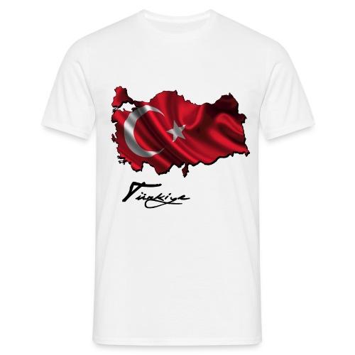 Türkei Umriss + Flagge - Männer T-Shirt