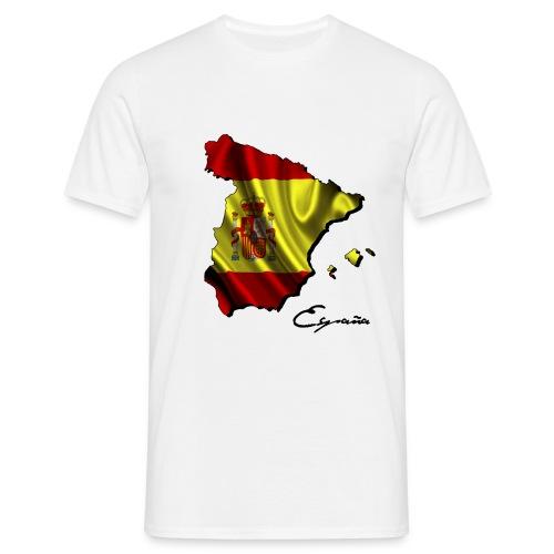 Spanien Umriss + Flagge - Männer T-Shirt