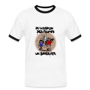 T-SHIRT contraste homme - T-shirt contrasté Homme