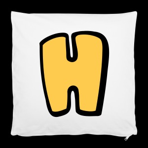 Alphabet H - Pillowcase 40 x 40 cm