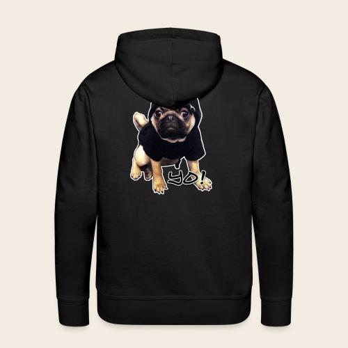 YO! Mops Männer Kapuzernpullover - Männer Premium Hoodie