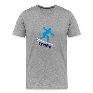 Men's Premium T-Shirt - Welsh for surfing. Classic-cut t-shirt for men.