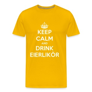 Herren Keep Calm and Drink Eierlikör Shirt Gelb - Männer Premium T-Shirt