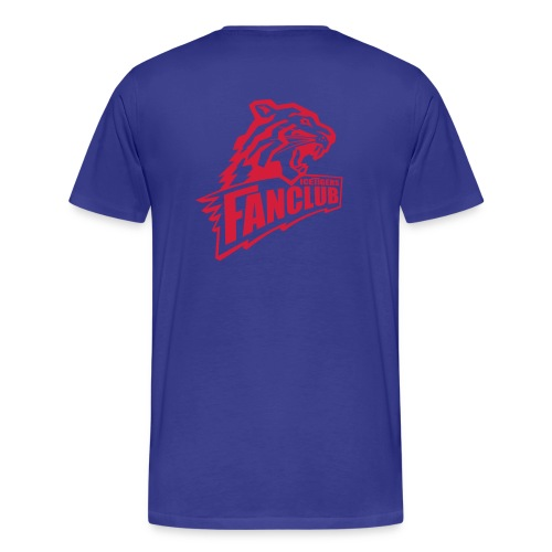 V Shirt Logo vorne u hinten - Männer Premium T-Shirt
