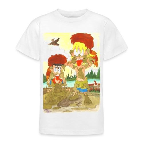 Frechdachse im Matsch - Teenager T-Shirt