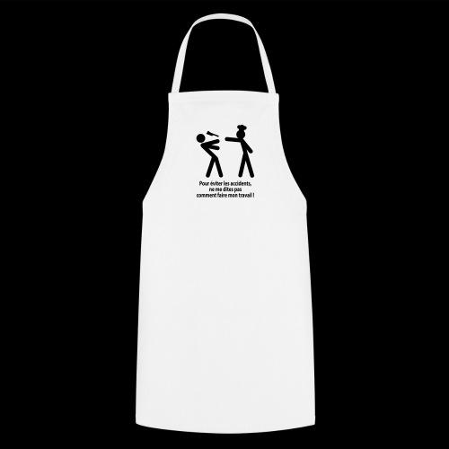 Risque d'accident - Tablier de cuisine