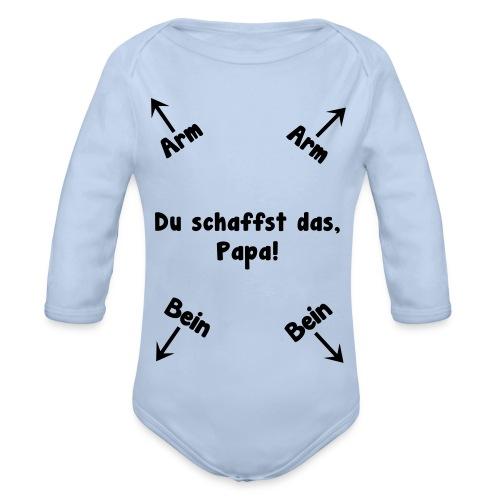 Du schaffst das, Papa! - Baby Bio-Langarm-Body