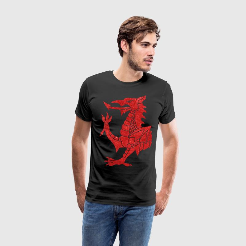 Welsh Dragon Rampant T-Shirts - Men's Premium T-Shirt