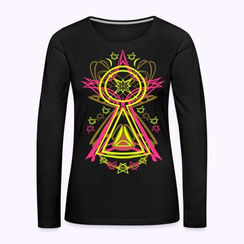 All Seeing Eye: Women's Longsleeve Shirt - Camiseta de manga larga premium mujer
