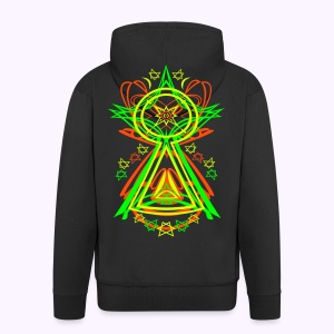 All Seeing Eye - Men's Hooded Jacket - Miesten premium vetoketjullinen huppari