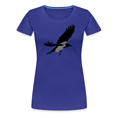 Krähe - Frauen Premium T-Shirt